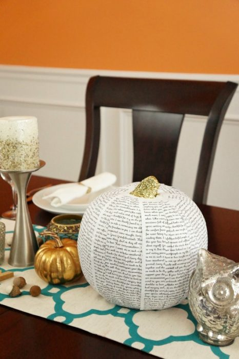 diy pumpkin projects - grateful words pumpkin