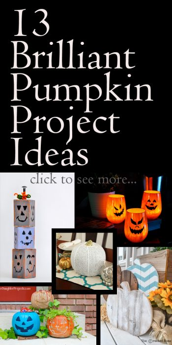 Check out these 13 Brilliant Pumpkin Projects for some great Halloween decor inspiration!