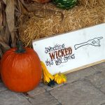 something wicked this way comes halloween sign - finished photo horizontal