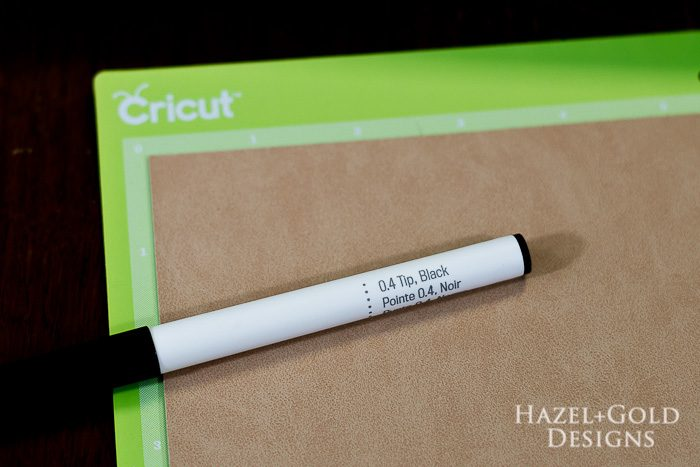 Cricut Family Gifts - Faux Suede and pen for earrings