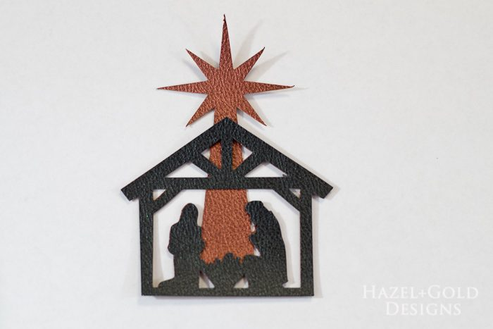 DIY Christmas Nativity Ornament - final ornament