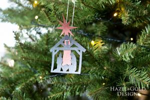 DIY Christmas Nativity Ornament -