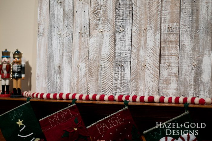 Customizable Wooden Advent Calendar- empty hooks advent calendar