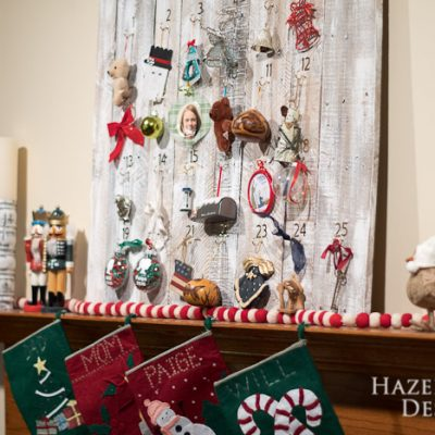 DIY Customizable Rustic Wooden Advent Calendar