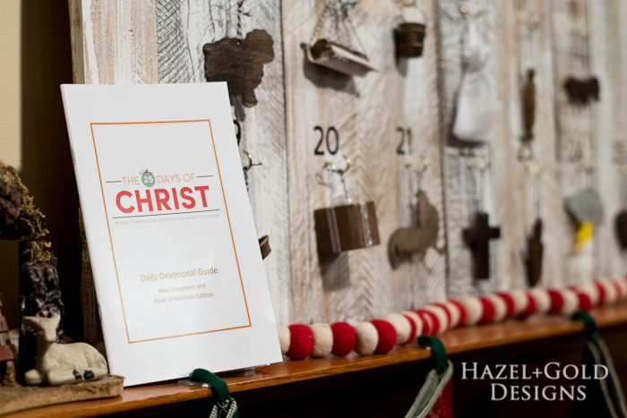 Customizable Wooden Advent Calendar- 25 days of christ book and side shot