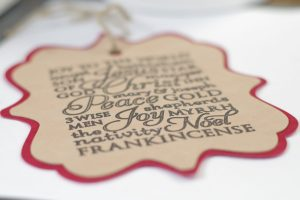 DIY Subway Art Faux Suede Christmas Ornament Tutorial