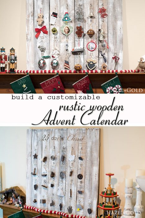 diy customizable wooden advent calendar pinterest image