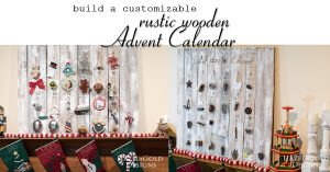 diy customizable wooden advent calendar social media image