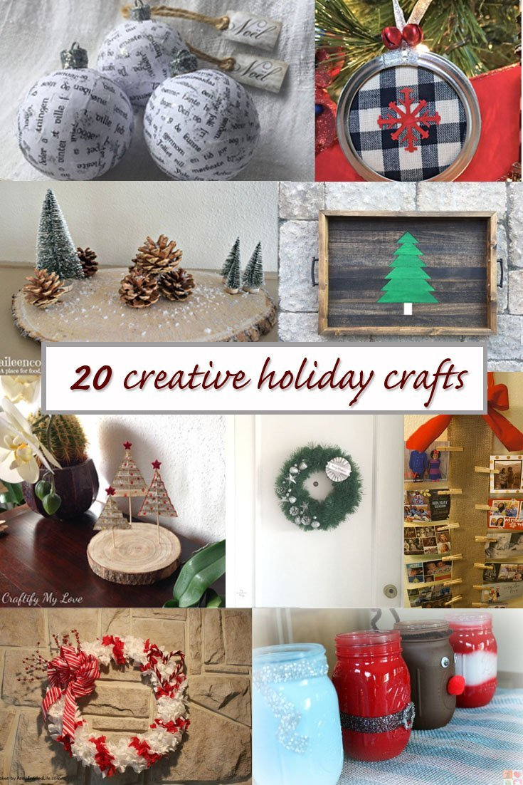 20 creative holiday crafts pinterest image