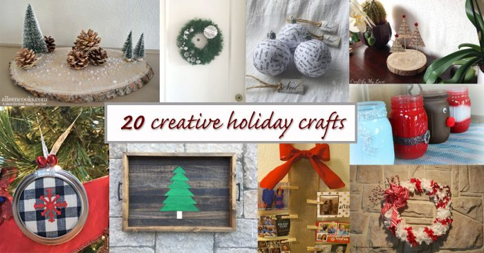 20 creative holiday crafts social media image