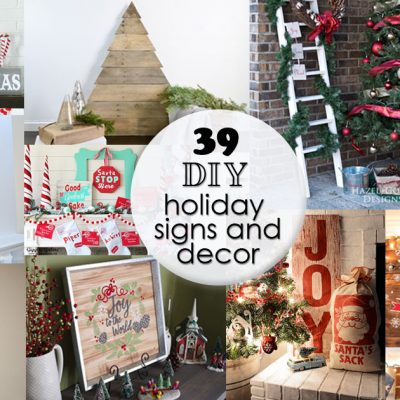 39 DIY Holiday Signs and Decor