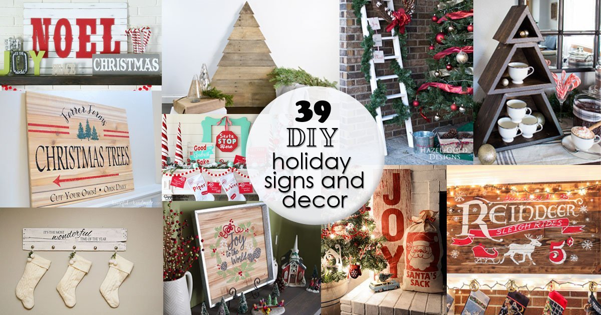 39 Diy Holiday Signs And Decor Hazel Gold Designs