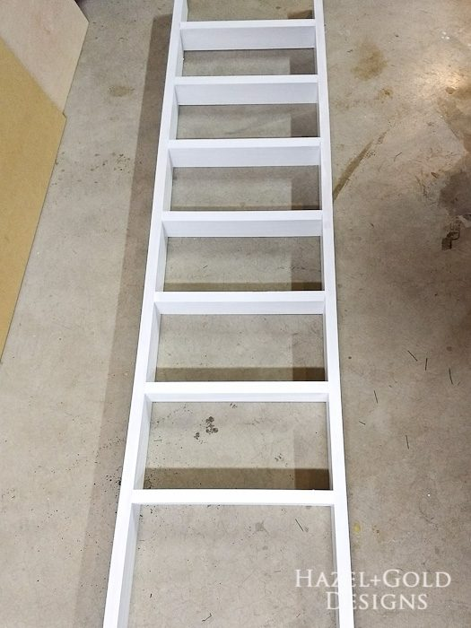 DIY Decorative Ladder- all painted White DecoArt Outdoor Living