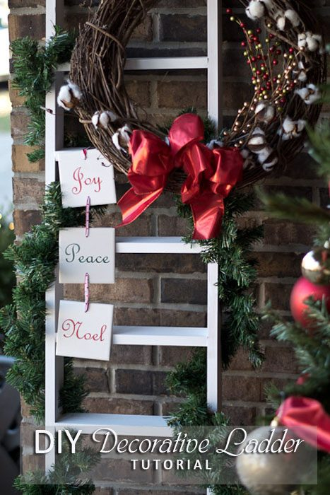 DIY Decorative Ladder-pinterest image