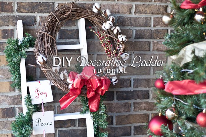 DIY Decorative Ladder-social media image