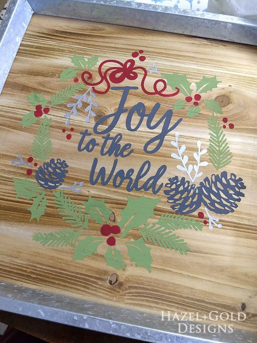 DIY Joy to the World Wooden Sign- all finished