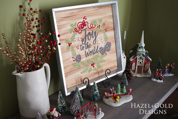 DIY Joy to the World Wooden Sign- finished photo 1