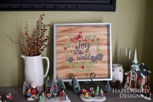 DIY Joy to the World Wooden Christmas Sign