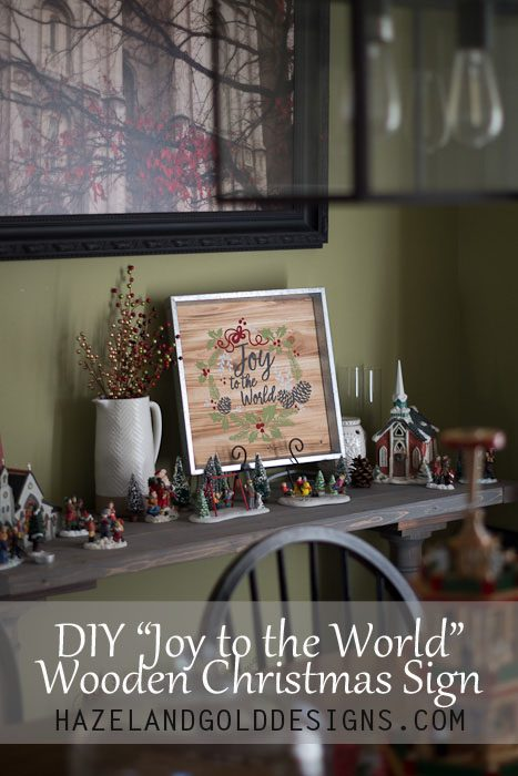 DIY Joy to the World Wooden Sign-121
