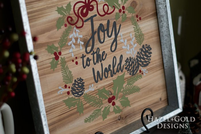 DIY Joy to the World Wooden Sign- finished photo closeup2