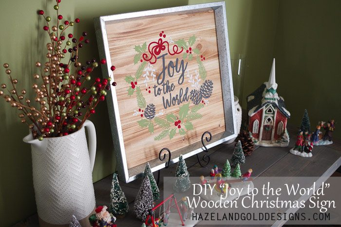 Well known DIY Joy to the World Wooden Christmas Sign - Hazel + Gold Designs FE37