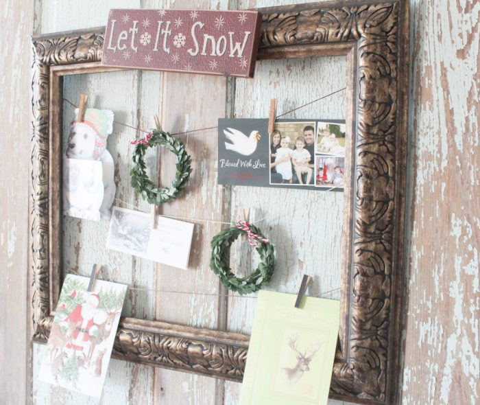 Make-Your-Own-Christmas-Holiday-Card-Holder-with-a-Frame-7 repurpose and upcycle