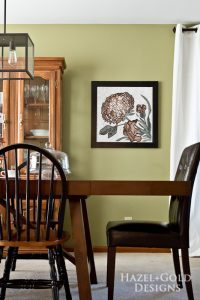 photo of dining room and Mozaico artwork