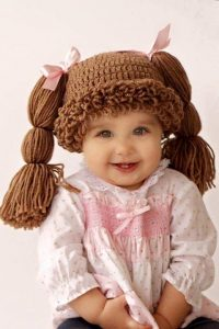 Hazel + Gold Designs - crochet cabbage patch doll wig