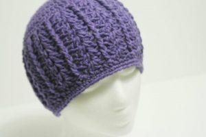 Hazel + Gold Designs - crochet shell beanie