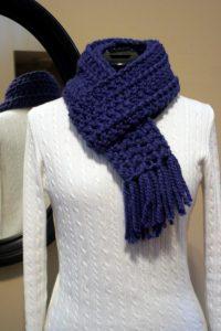 Hazel + Gold Designs - crochet chunky scarf