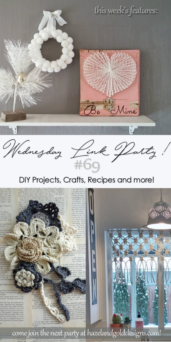 DIY Projects, Crafts, Recipes and More Wednesday Link Party #69 - This 'To Grandma's House We Go' is a link party all about homemade, homemaking, DIY, recycling, upcycling, before and afters and more!