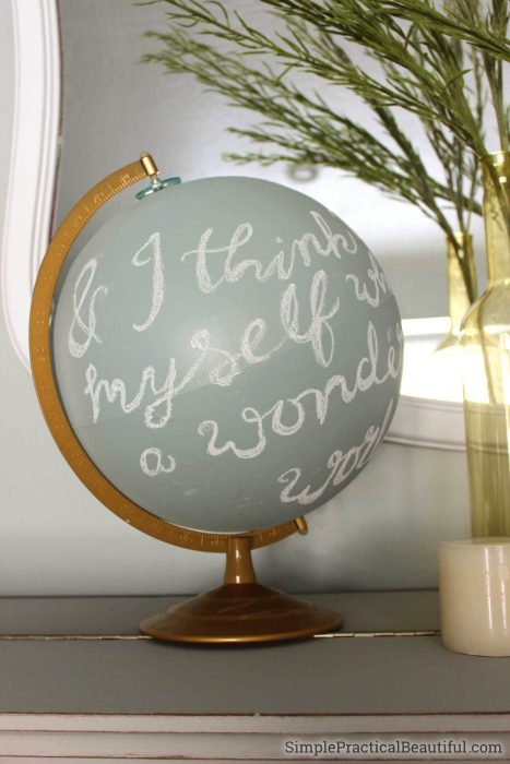 wednesday link party feature - diy refinished globe