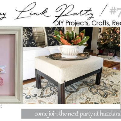 DIY PROJECTS, CRAFTS, RECIPES AND MORE WEDNESDAY LINK PARTY #70