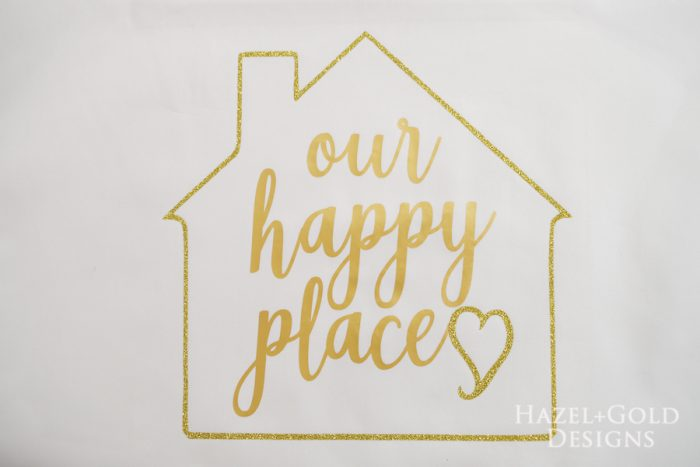 Our Happy Place Pillow- put pillow insert into pillow cover
