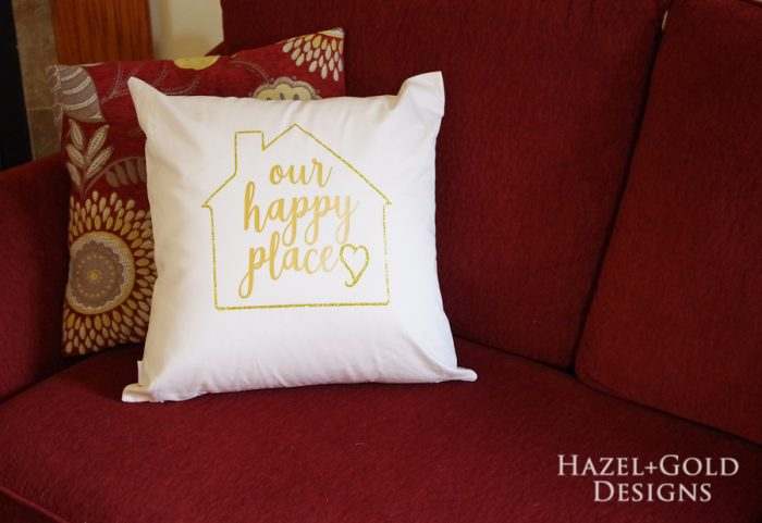 Our Happy Place Pillow- finished