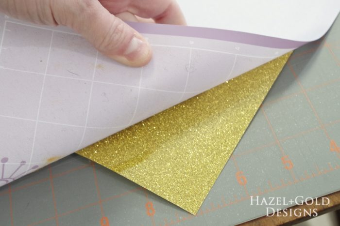 Our Happy Place Pillow - remove glitter vinyl from mat