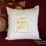 Our Happy Place Pillow- completed photo square