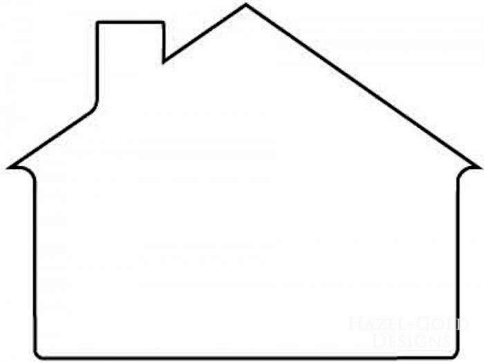Our Happy Place Pillow- house outline clipart