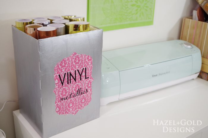 Repurpose Cereal Box to Vinyl Storage - Create with Cricut Challenge on making house, cracker box house, waffle box house, cardboard box house,