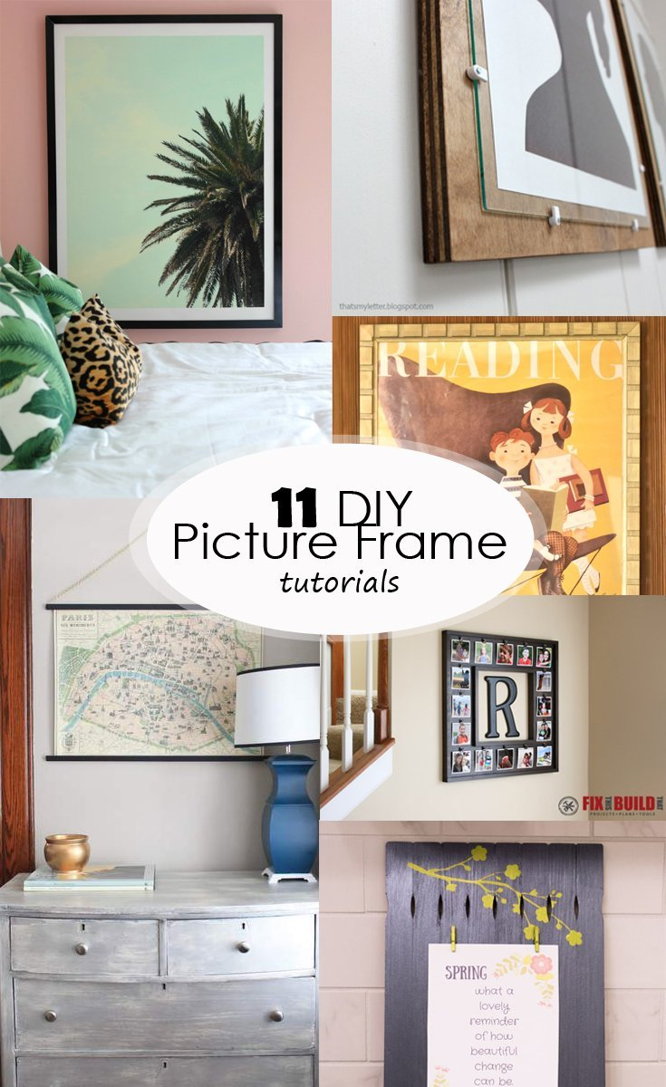 diy picture frame tutorials pinterest image