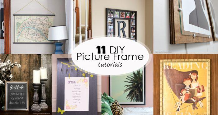 diy picture frame tutorials social media image