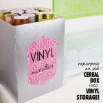 Repurpose Cereal Box to Vinyl Storage- featured image square