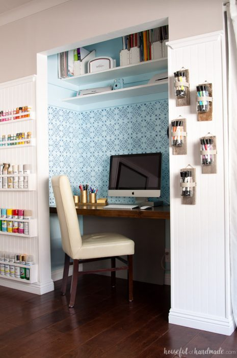 craft room makeover - houseful of handmade