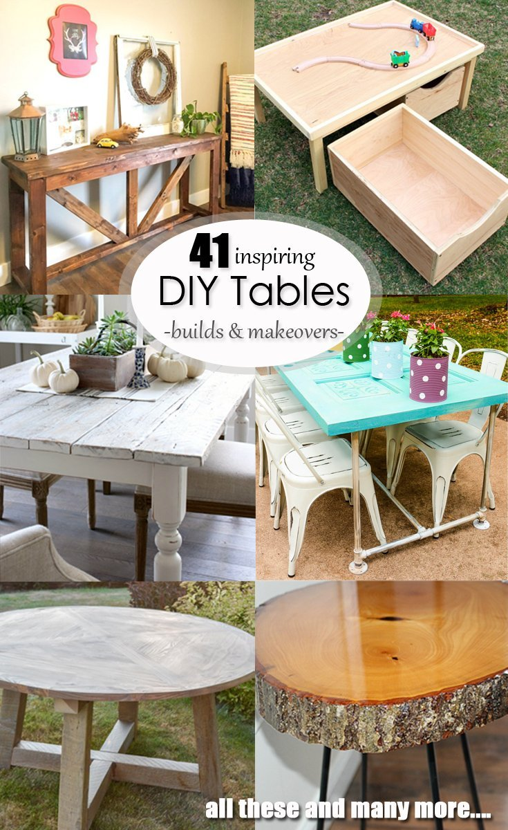 41 Inspiring DIY Table Builds and Makeovers - If I could afford it then it usually wasn't high quality, and if it was high quality then I usually couldn't afford it. The furniture I have been able to DIY has been sturdy, affordable, customized to my space and gives me an awesome sense of accomplishment as well. Win, win, win. Check out these awesome DIYs for inspiration!