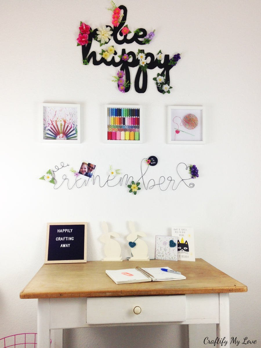 crafting inspired wall art for your craft room