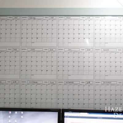 Simple DIY Large Wall Calendar Frame