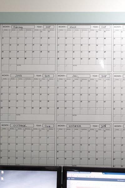 DIY Calendar Frame