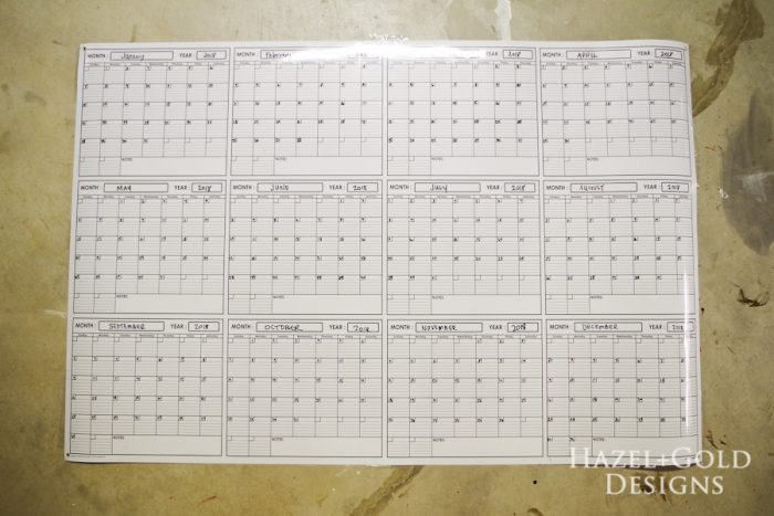 Diy Calendar Frame : Simple diy large wall calendar frame hazel gold designs