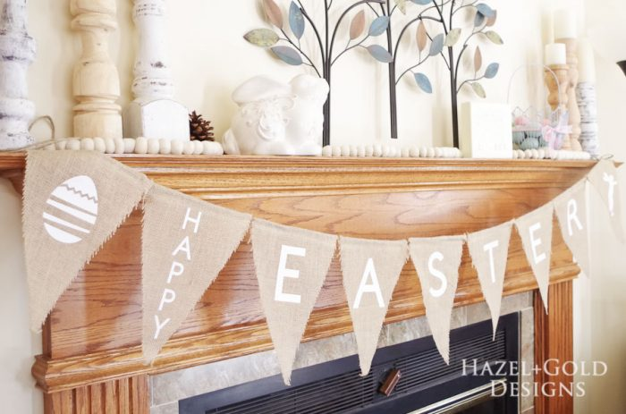 Easter Banner - Create with Cricut - finished