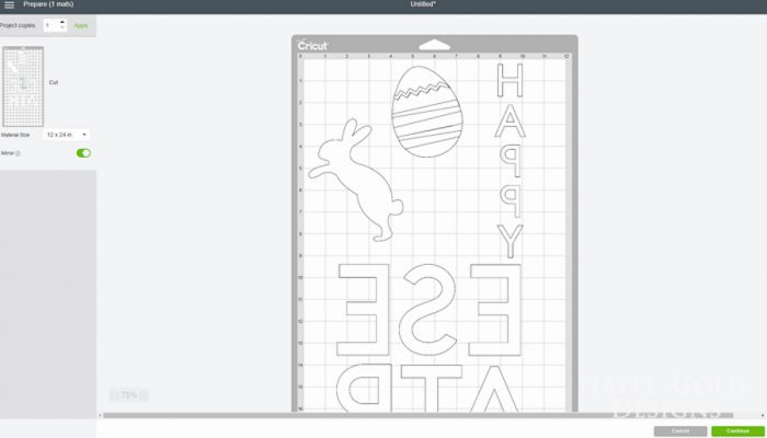 Easter Banner - Create with Cricut - make sure to mirror the image for iron on!